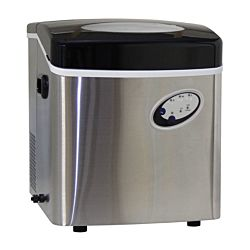 Icebull Machine à glace 18 kg, acier chromé