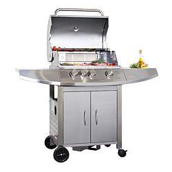 Mr.Grill Deluxe barbecue à gaz 3 brûleurs et 1 brûleur de paroi d'arrière