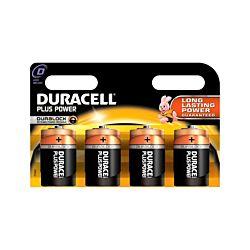 Duracell Piles Plus Power Mono D, 4 pièces