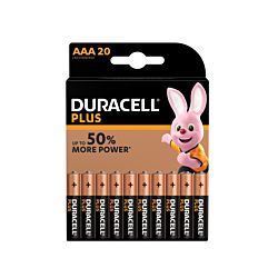 Duracell Batterie Plus Power AAA, 20 pièces