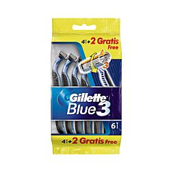 Gillette Einwegrasierer Blue3 4 Stück, + 2 gratis