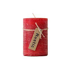 FS-STAR Kerze Rustic 7 x 10 cm, rot