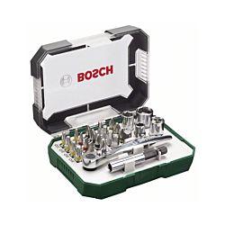 Bosch Set d'embouts de tournevis et cliquet 26 pièces