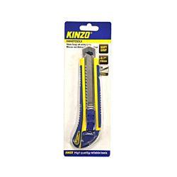 Kinzo Cuttermesser mit 3 Klingen 18mm