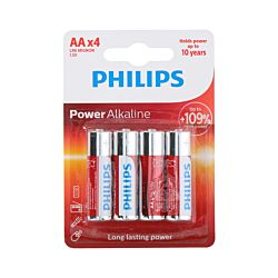 Philips Piles Power Alkaline LR6/AA, 4 pièces