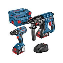Bosch 2-Set d'outils GSR 18V-28 / GBH 18V-20.2 x 4.0 Ah, incl. L-Boxx