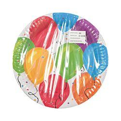 FS-STAR Assiettes en carton colorées, 6 pièces