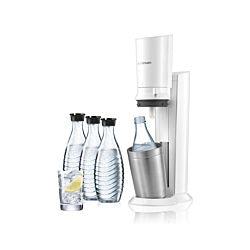 SodaStream 2.0 Crystal Megapack, 60 litres blanc / métal