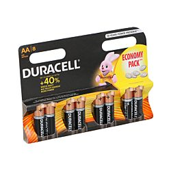 Duracell Pile R06AA, 8 pièces