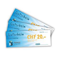 Gutschein für den Frankenspalter Onlineshop CHF 20.00