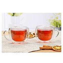 FS-STAR Set de verres de thé double parois, 2 pièces