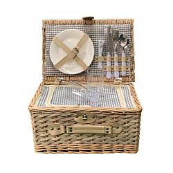 dameco Picknickkorb für 2 Personen 38 x 26 x 20 cm