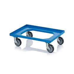 Auer Transportroller kompakt mit Gummiräder himmelblau 62x42cm