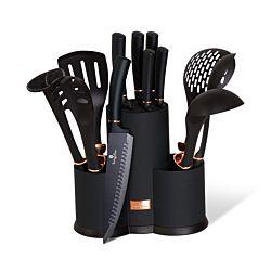 Berlinger Haus Set de couteaux et ustensiles de cuisine à 12 pièces Black Edition