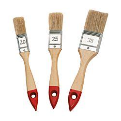 Color Expert Set de pinceaux plats 3 pièces