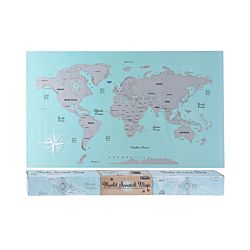 FS-STAR Poster carte du monde à gratter 88x52cm