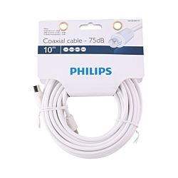 Philips Koaxialkabel 10m weiss 75dB