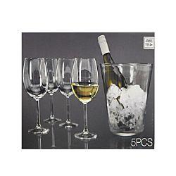 FS-STAR Weingläser 4 Stück mit Weinkühler