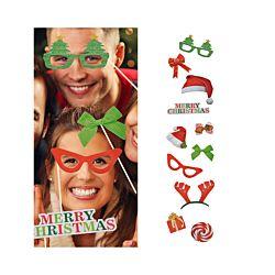 FS-STAR Foto- und Selfie Set Party Accessoires, Weihnachten