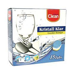 Clean Pastilles pour lave-vaisselle 3dans1, 15 pièces