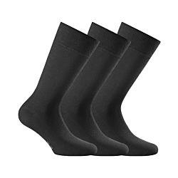Rohner Socken Herren business 3er Pack schwarz Gr. 43/46