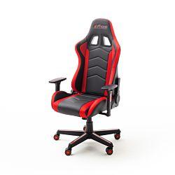 MC Racing Gaming Chair mit LED- Beleuchtung schwarz rot, 62332SR7