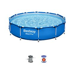 Bestway Steel Pro Frame Pool Set 366 x76 cm inkl. Filterpumpe