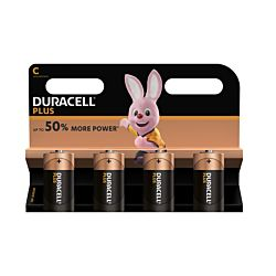 Duracell Plus Batterie LR14/C, 4 Stück