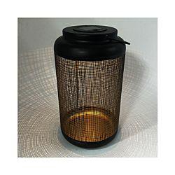 Dameco Lanterne LED Solaire noire/or hauteur 26cm