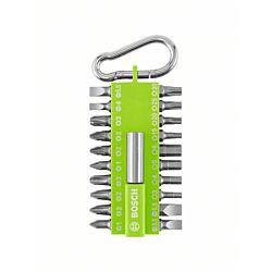 Bosch Kit d'embouts 21 pièces avec snap-hook vert clair