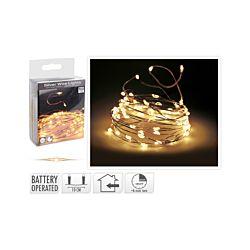 FS STAR Silberdraht Lichterkette 100 LED mit Timer