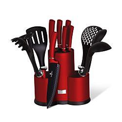 Berlinger Haus 12-teiliges Messer- und Kochbesteck Set Burgundy Edition