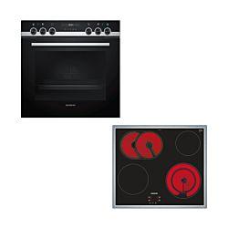 Siemens HE557GBS1C & EF645HNA2C Set de four et cuisinière