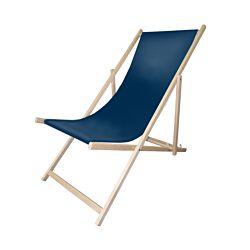 FS-STAR Holzliegestuhl dunkelblau
