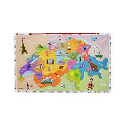 Janod Magnetkarte Schweiz 24-teilig
