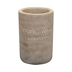 """Schneider Korbwaren Beton-Weinkühler """"Drink wine be happy"""""""