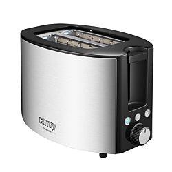 Camry Toaster für 2 Scheiben, chromstahl