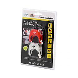 Dunlop Fahrradlampen-Set 2x2 LED