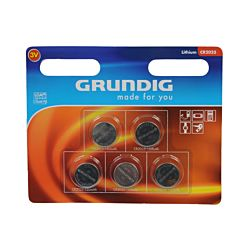 Grundig Pile bouton, cr2025, 5 pièces