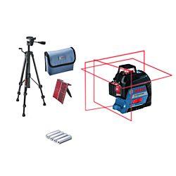 Bosch Laser lignes GLL 3-80 & BT 150 professionnel, avec trépied