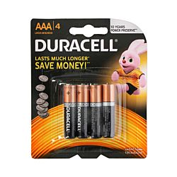Duracell Batterie LR03/AAA, 4 Stück