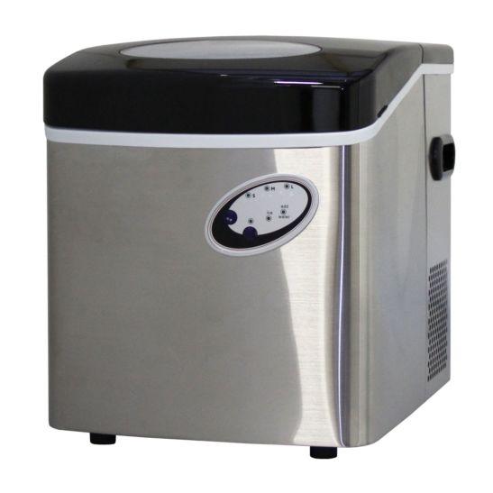 Icebull Eiswürfelmaschine Chrom 18kg/Tag, 2kg Speicher