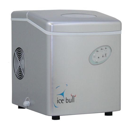 Icebull Eiswürfelmaschine 15kg/Tag, 1kg Speicher Hohlkegel