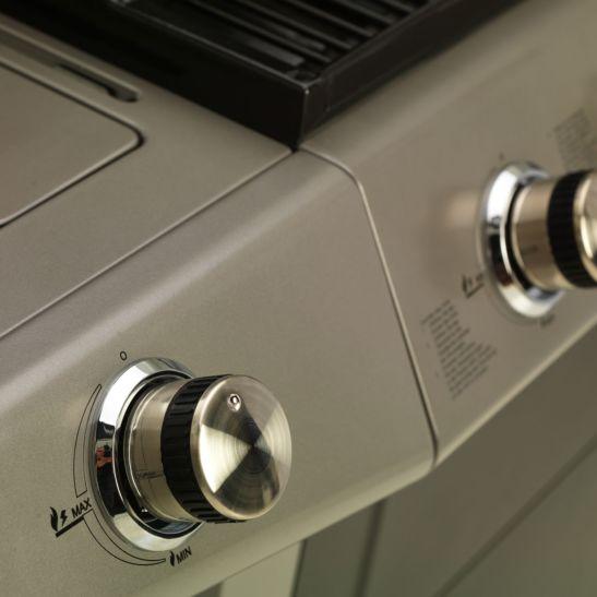 Mr.Grill Barbecue à gaz 4 brûleurs et 1 brûleur latéral