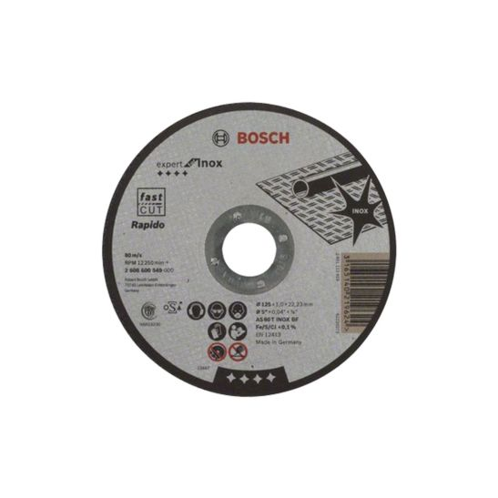 Bosch Trennscheiben Rapido Inox 125 mm, 10 Stück