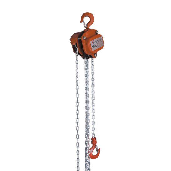 Kibernetik Palan de chaîne 3 mètres 1 tonne, avec crochet