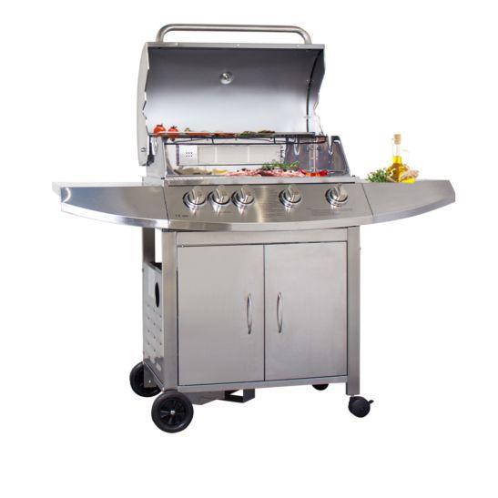 Mr.Grill Barbecue à gaz 4 brûleurs et 1 brûleur de paroi arrière
