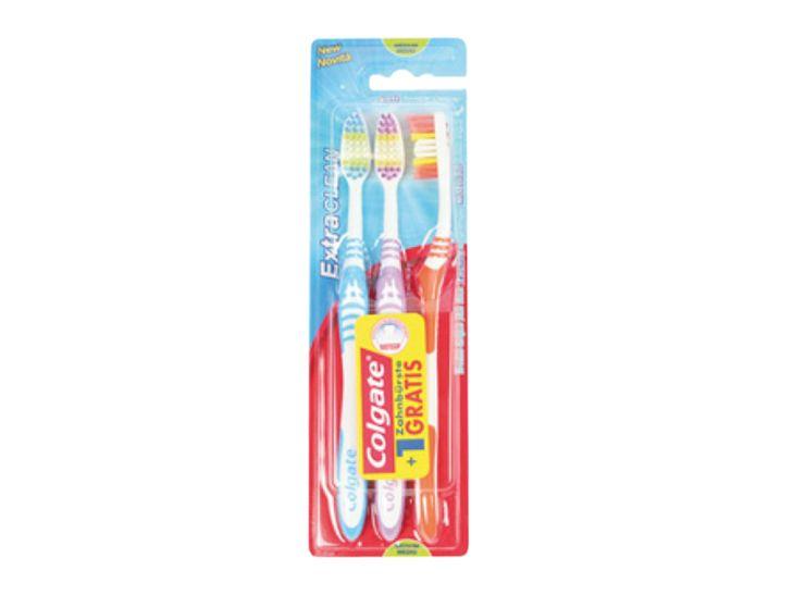 Colgate Brosse à dents Extra Clean, 3 pièces