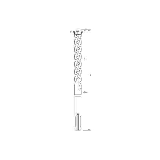 Bosch Forets SDS-plus-7X, 5 x 100 x 165 mm