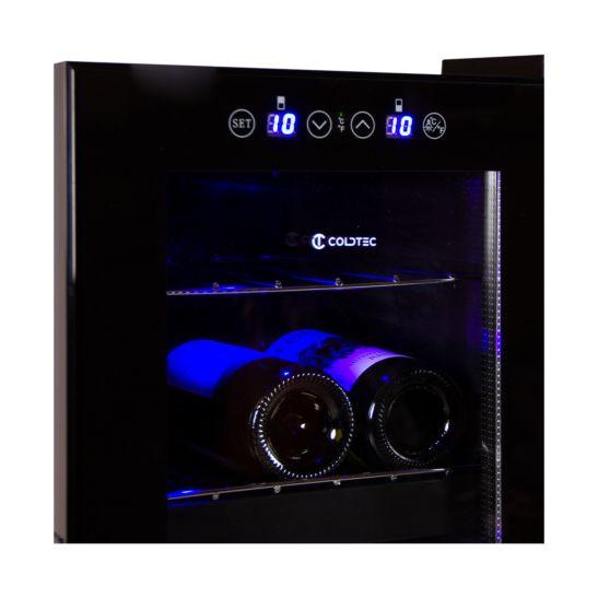COLDTEC Weinkühlschrank 21 Flaschen 2 Zonen